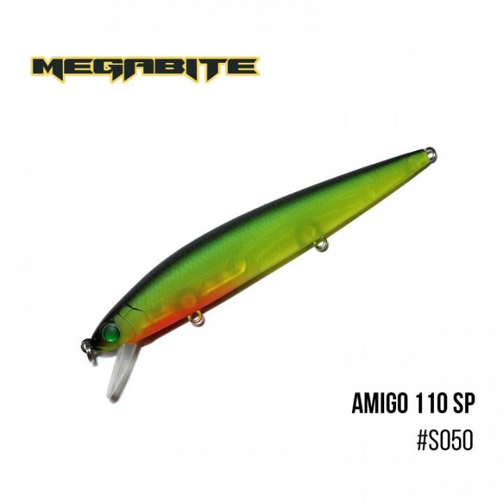 Воблер Megabite  Amigo 110 SP 110mm 14.3g до 1m S050