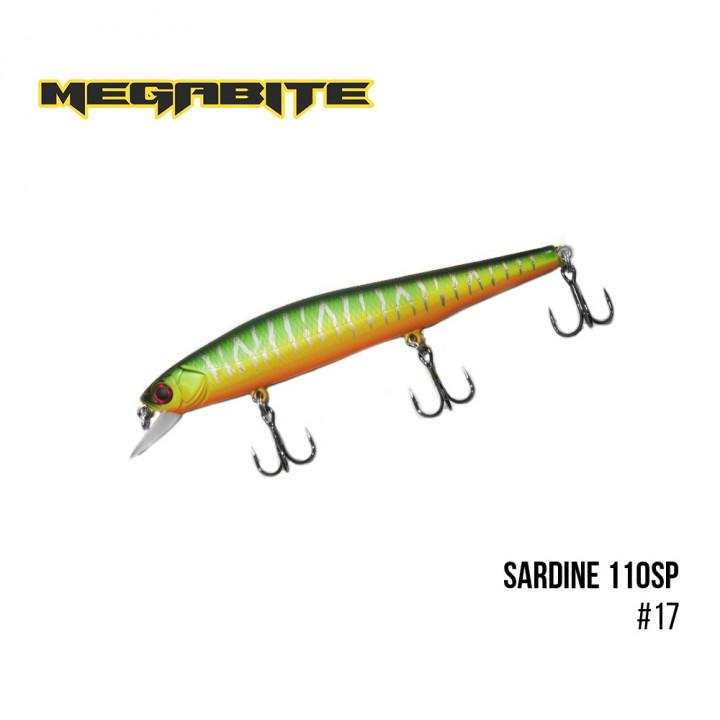 Воблер Megabite Sardine 110mm 13.7g до 1.2m 17