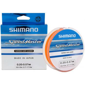 Шоклидер Shimano Speedmaster Tapered Surf Leader 10X15m 0.23-0.57mm 3.6-17.0kg