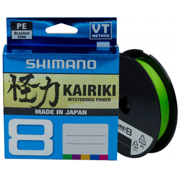 Шнур Shimano Kairiki 8 PE (Mantis Green) 150m 0.20mm 17.1kg