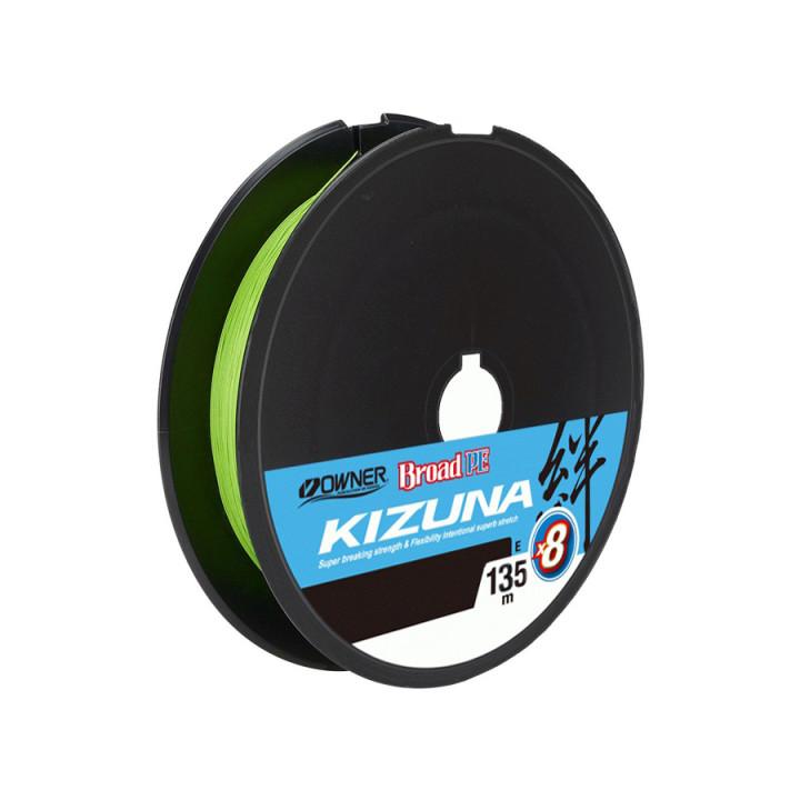 Шнур Owner Kizuna Broad PEx8 135mm 0.10mm 4.1kg Chartreuse