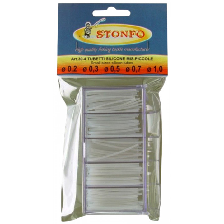 Кембрик силиконовый Stonfo 30-4 Box Clear Silicone Tube Small диам. 0.2-0.3-0.5-0.7-1.0мм