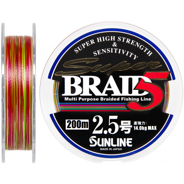 Шнур Sunline Super Braid 5 200m #2.5/0.25mm 14.0kg
