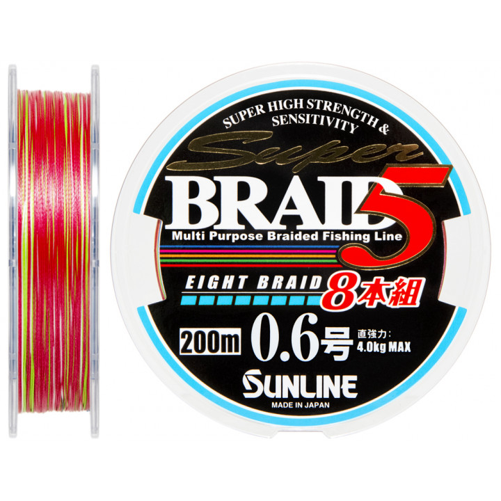 Шнур Sunline Super Braid 5 (8 Braid) 200m #0.6/0.128mm 4.0kg