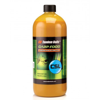 Tandem Baits Carp Food CSL 1000ml Black Halibut / Чёрный палтус