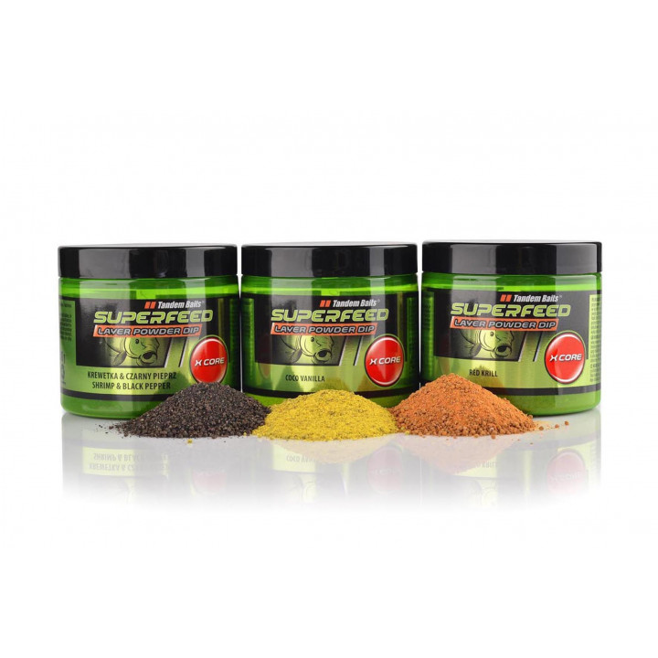 Tandem Baits SuperFeed X Core Layer Powder Dip 100g Red Krill