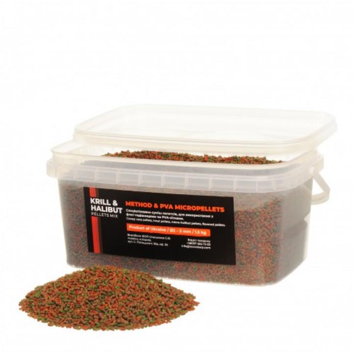 Технокарп Method & PVA Micropellets Krill & Halibut Mix 1.5kg