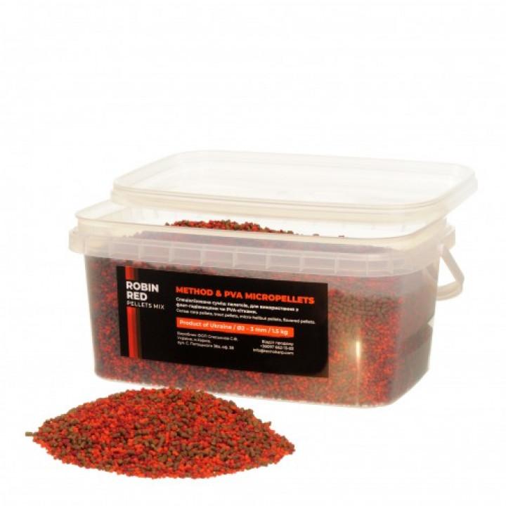 Технокарп Method & PVA Micropellets Robin Red Mix 1.5kg
