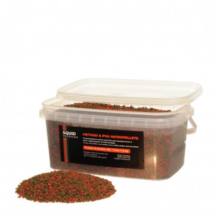 Технокарп Method & PVA Micropellets Squid Mix 1.5kg